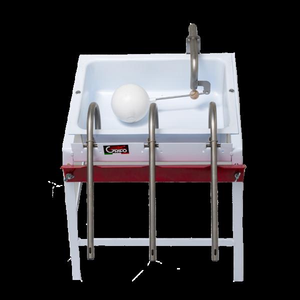 A Empitrice 3 sifoni vaschetta smaltata COD E3S