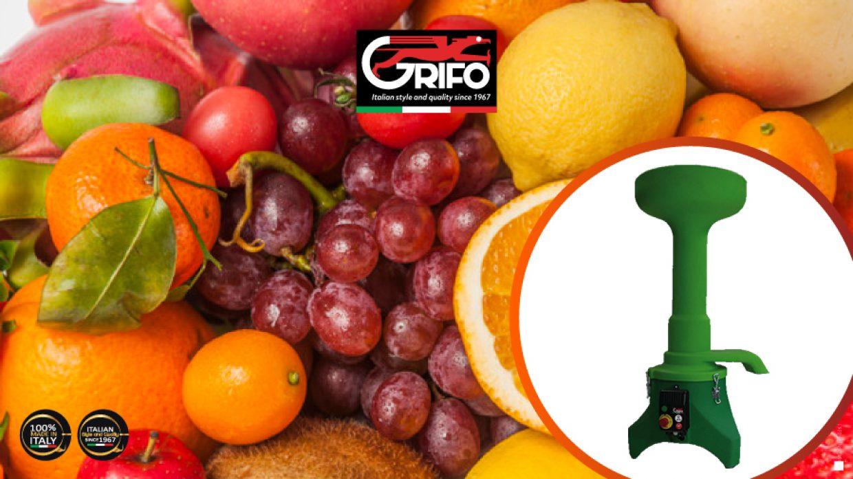 Sidro, succhi, carico di vitamine con il mulino frangifrutta Grifo!